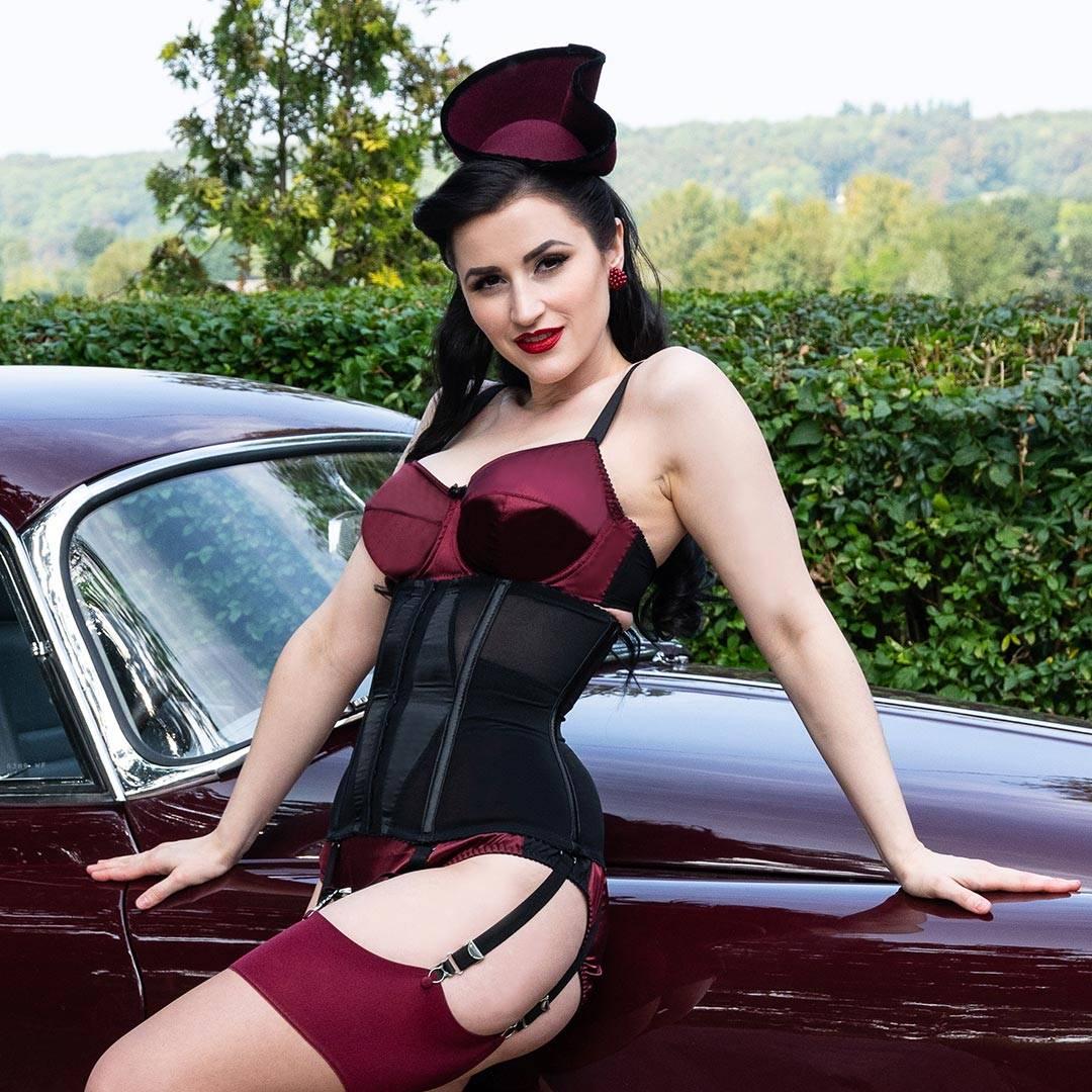 1950s vintage lingerie and waist cincher