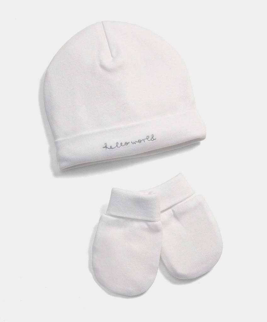 Hello World Hat & Mitts Set