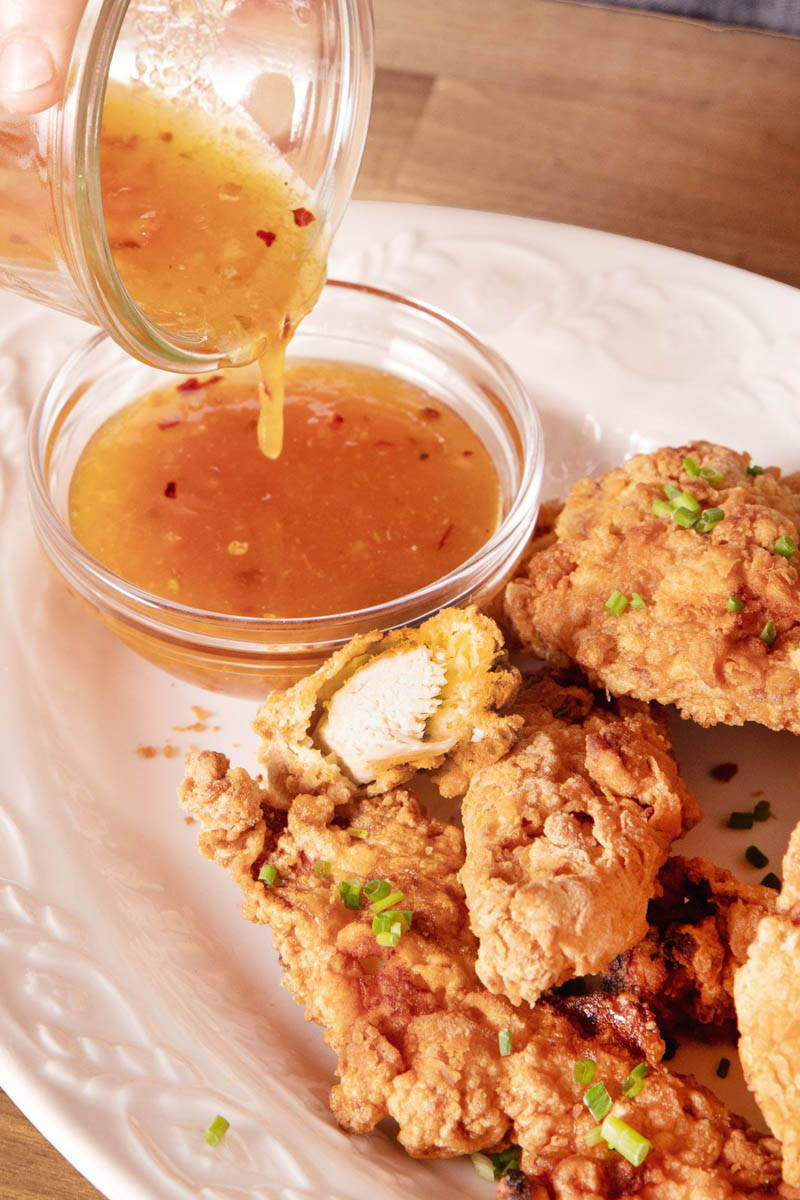 The Nut House Chicken Tenders with Orange, Lime, Ginger Dipping Sauce