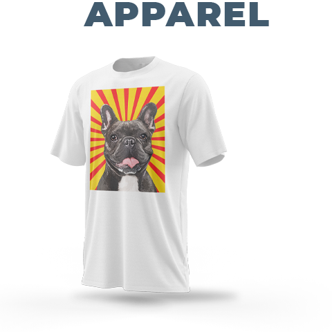 custom french bulldog pop art on apparel