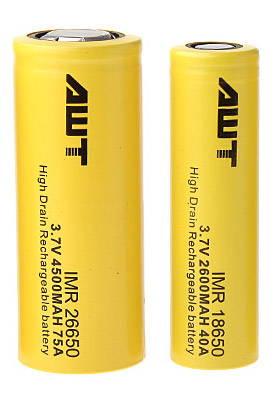 18650 & 26650 batteries