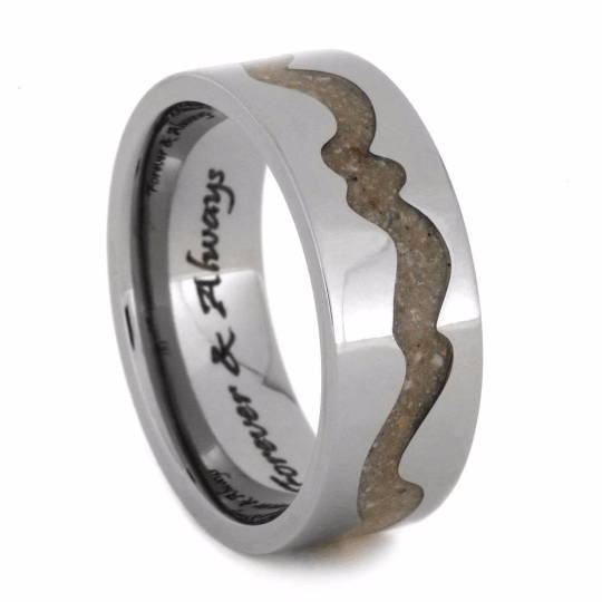 Pet Ash Ring with Swirl Inlay