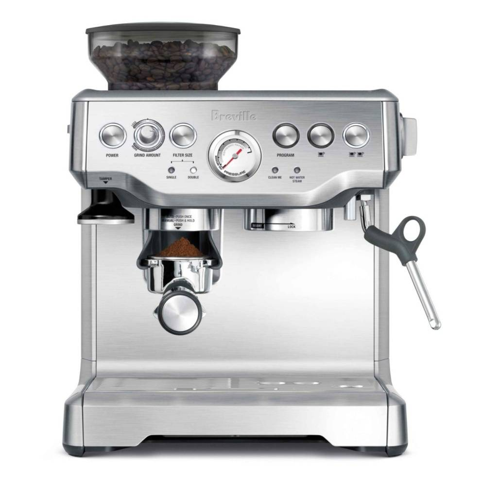 Breville Barista Express semi-automatic espresso machine.