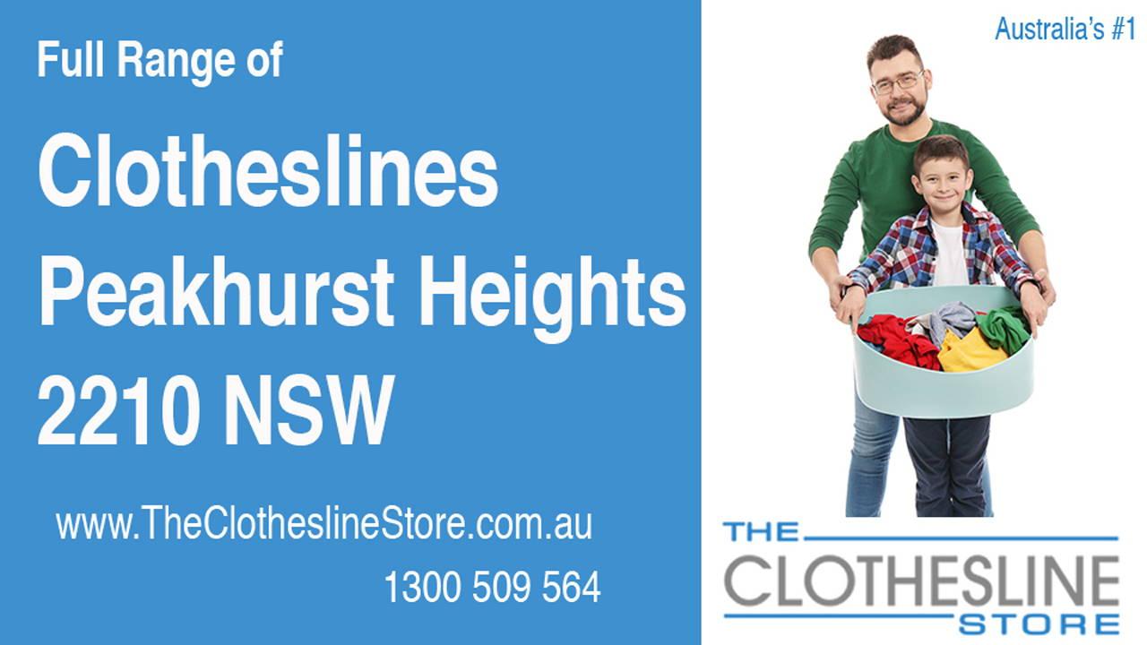 Clotheslines Peakhurst Heights 2210 NSW