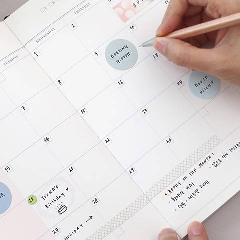 100gsm paper - Florence dateless weekly diary agenda planner