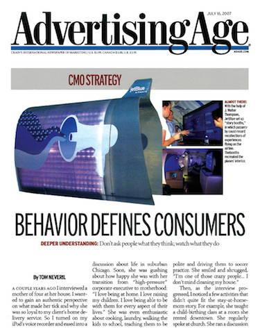 Behavior Defines Consumers