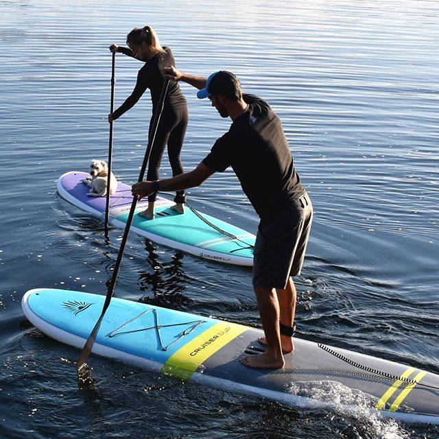 couple paddle boarding on Cruiser SUP Fusion and Blis