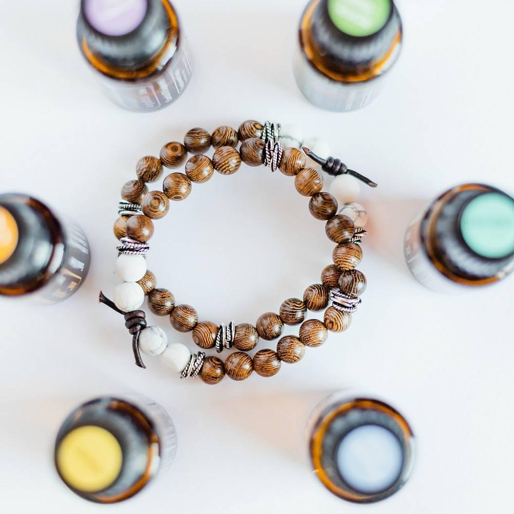 Wood aromatherapy bracelets