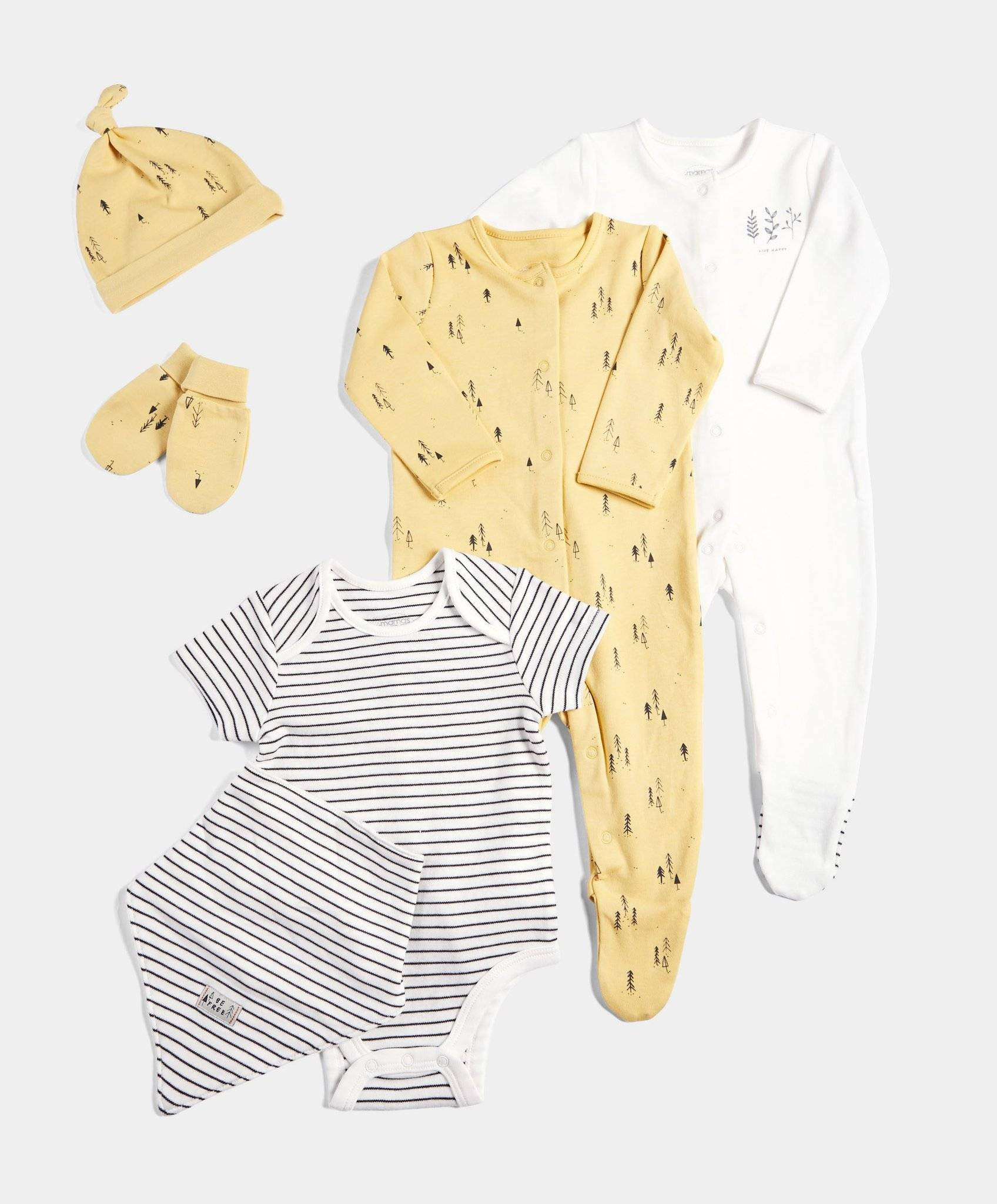 6 Piece Set Nature Print