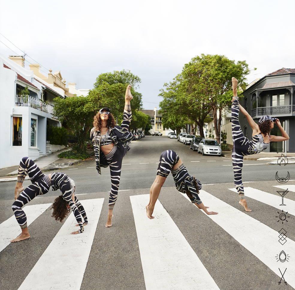 camilla zebra crossing activewear, camilla activewear, camilla legging, camilla active