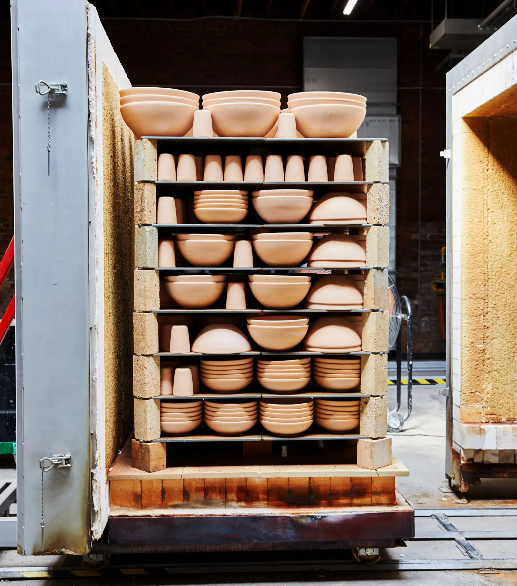 East Fork pots into the kiln