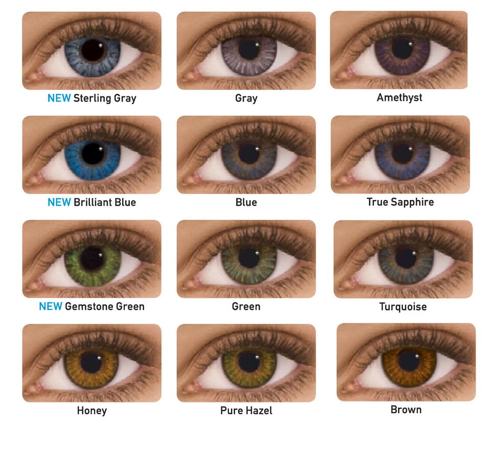 Freshlook Colored Contacts Perfect For Brown Or Dark Eyes