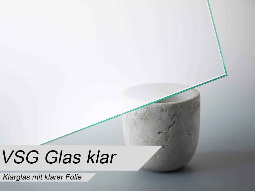 VSG aus TVG Glas mit klarer Folie