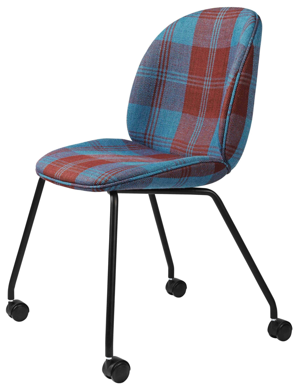 GUBI Beetle Meeting Chair in Plaid