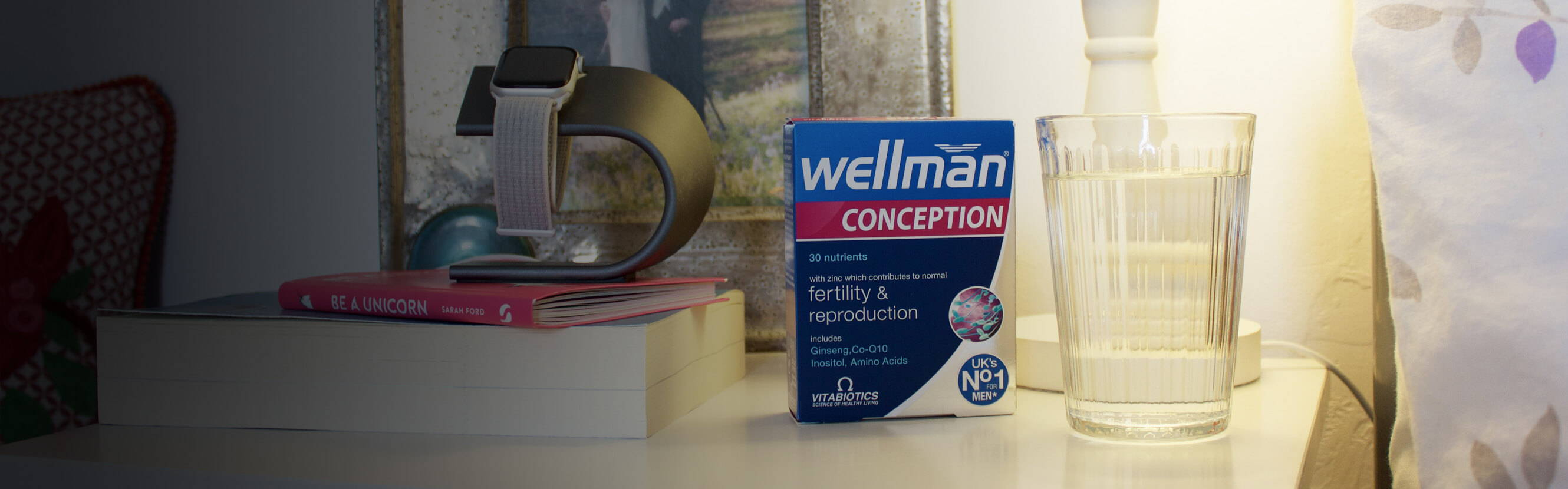 Your lifestyle. Stress levels. Exercise. Alcohol. Everything affects fertility and nutrition is a key piece of that puzzle. With Wellman Conception, safeguard your diet with a range of nutrients, selected by our experts for their roles in reproductive health.