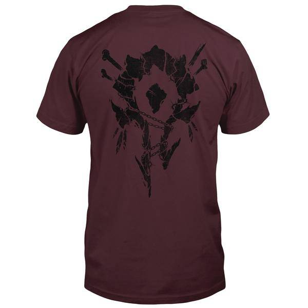 WORLD OF WARCRAFT HORDE BONES CREST POCKET TEE