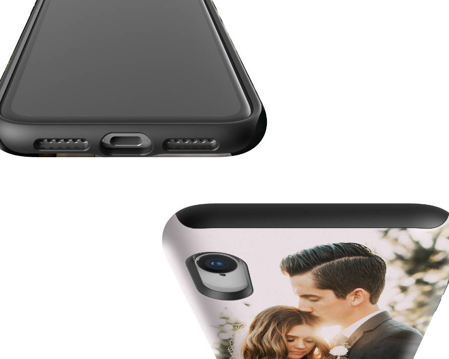 Custom iPhone XR Extra Protective Case Expanded Top