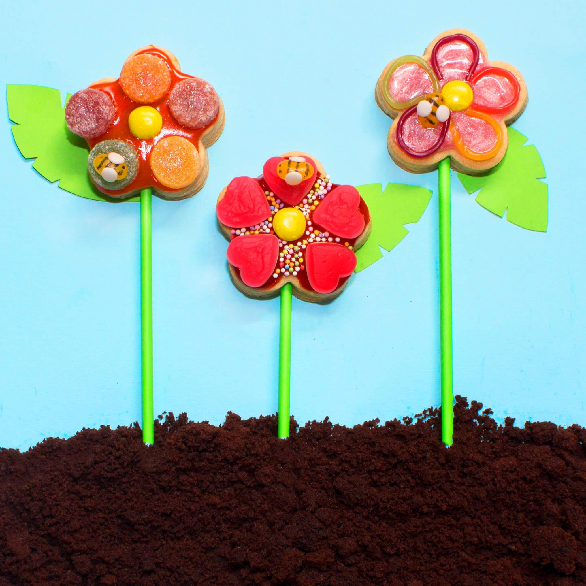 Flower Biscuit Pop Recipe