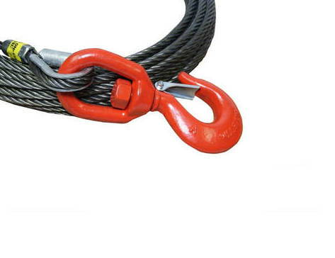 Winch lines, wire rope cables, synthetic rope cables
