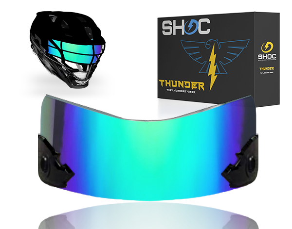 Lacrosse Visor by shoc - northen lights iridium