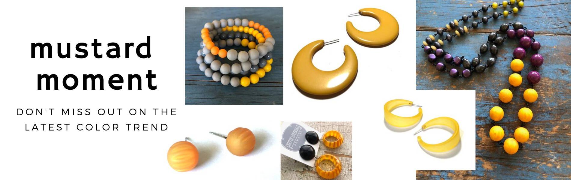 mutard yellow jewelry