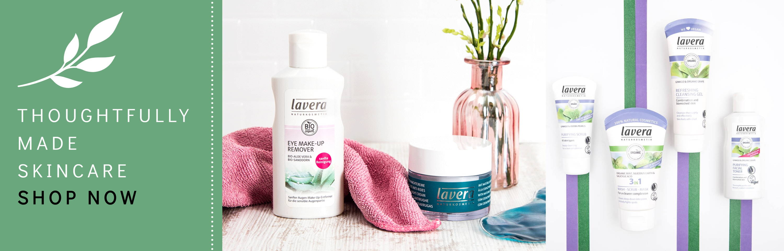 lavera natural and organic skincare from the best brand.