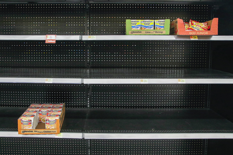 Empty Shelf At Store