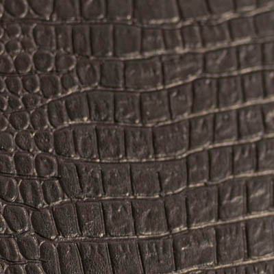 Genuine Leather with Alligator Print