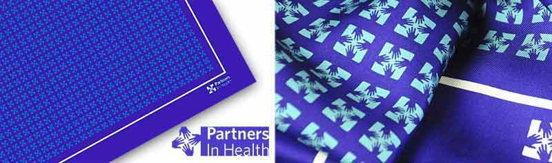 Corporate custom logo scarves - Silk twill - Square
