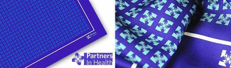 Corporate custom logo scarves - Silk twill - Square