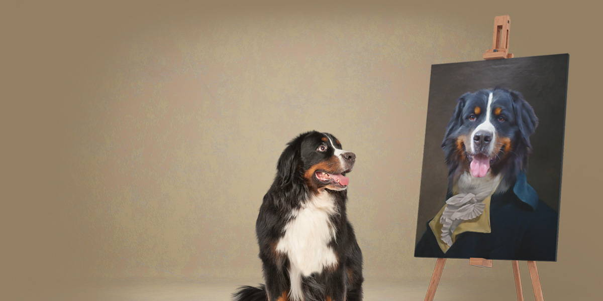 royal dog portraits on canvas