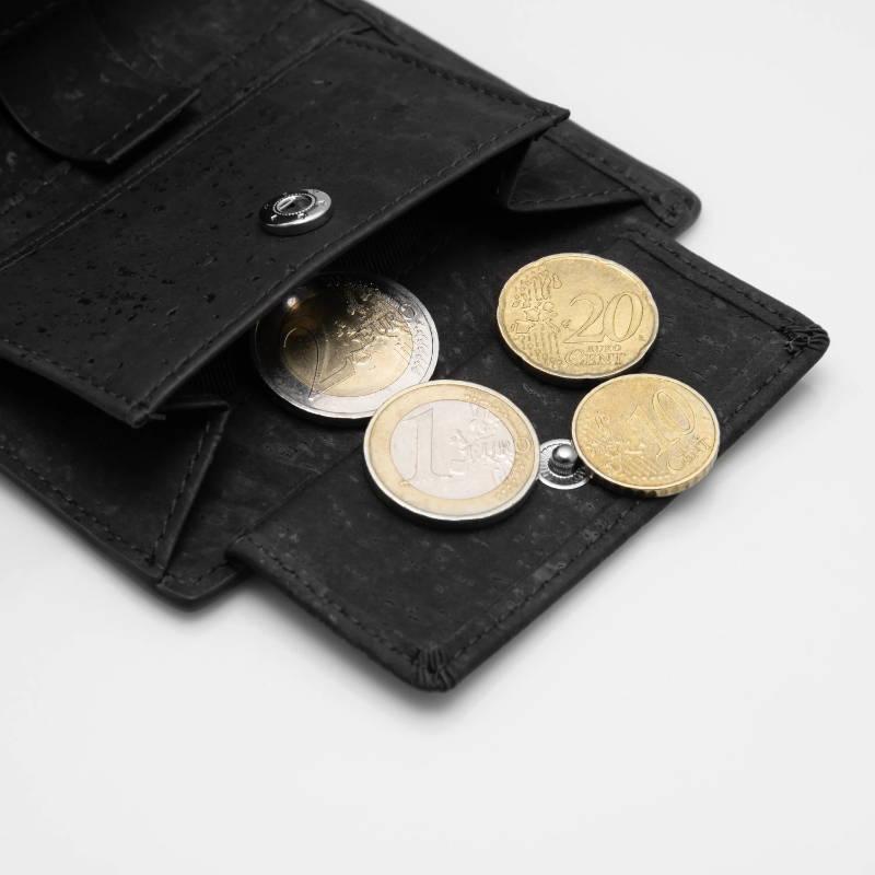 korkleder korkstoff geldbörse portemonnaie klassisch slimpuro