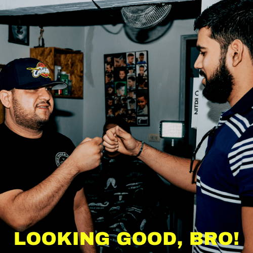 Looking Good Bro Fist Bump Meme