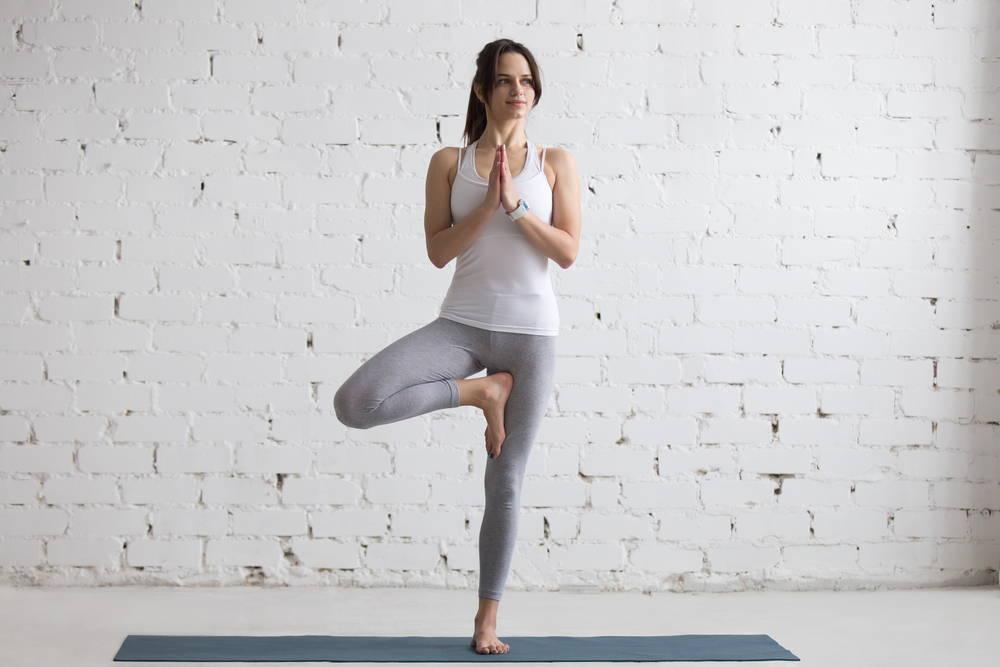 Yoga Tree Pose Strengthen Core Flat Tummy