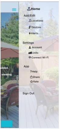 La Crosse View App Menu Image