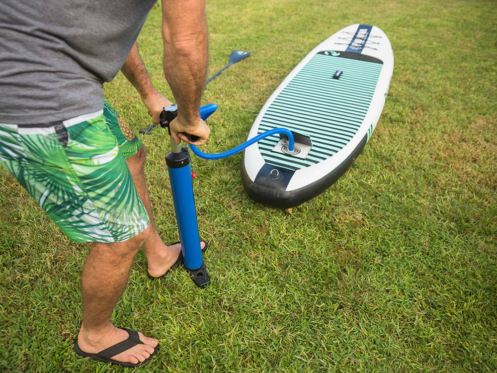 Pau Hanas Big EZ Air inflatable stand up paddle board package