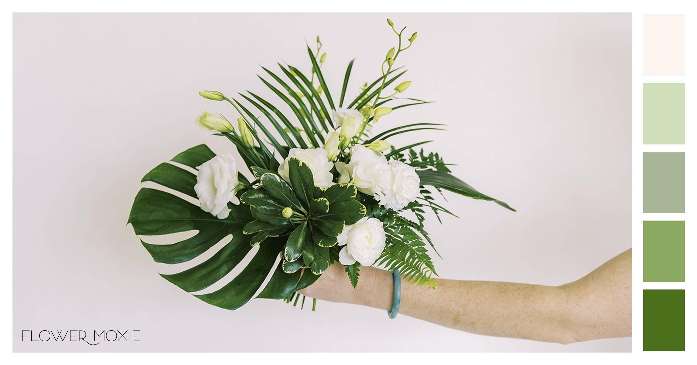 diy tropical wedding flowers