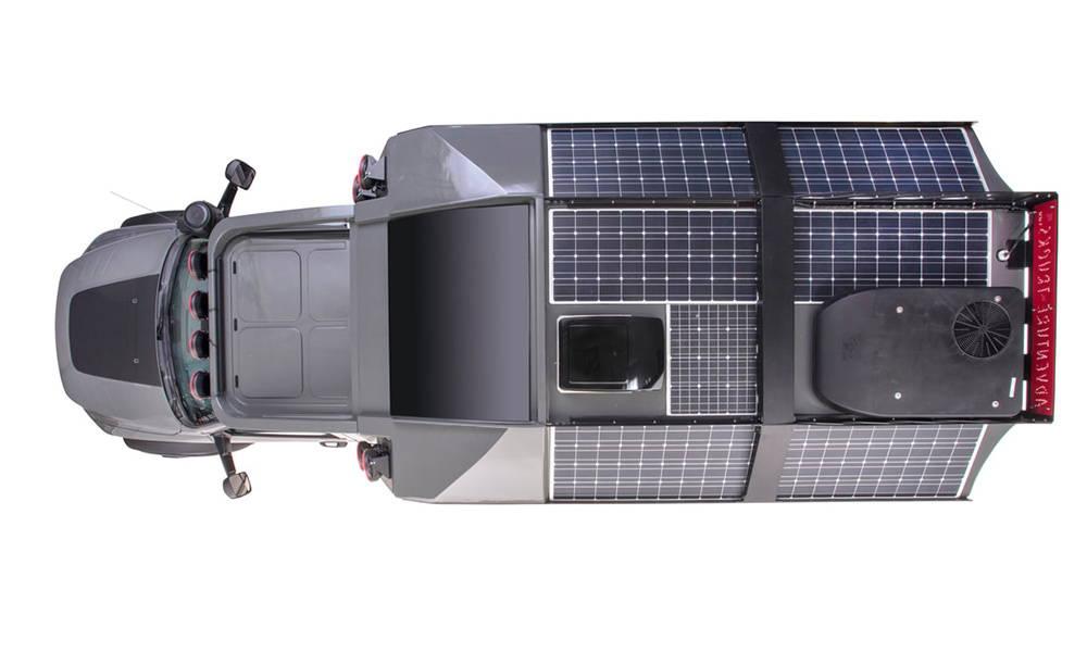 A massive solar array; an impressive display of power