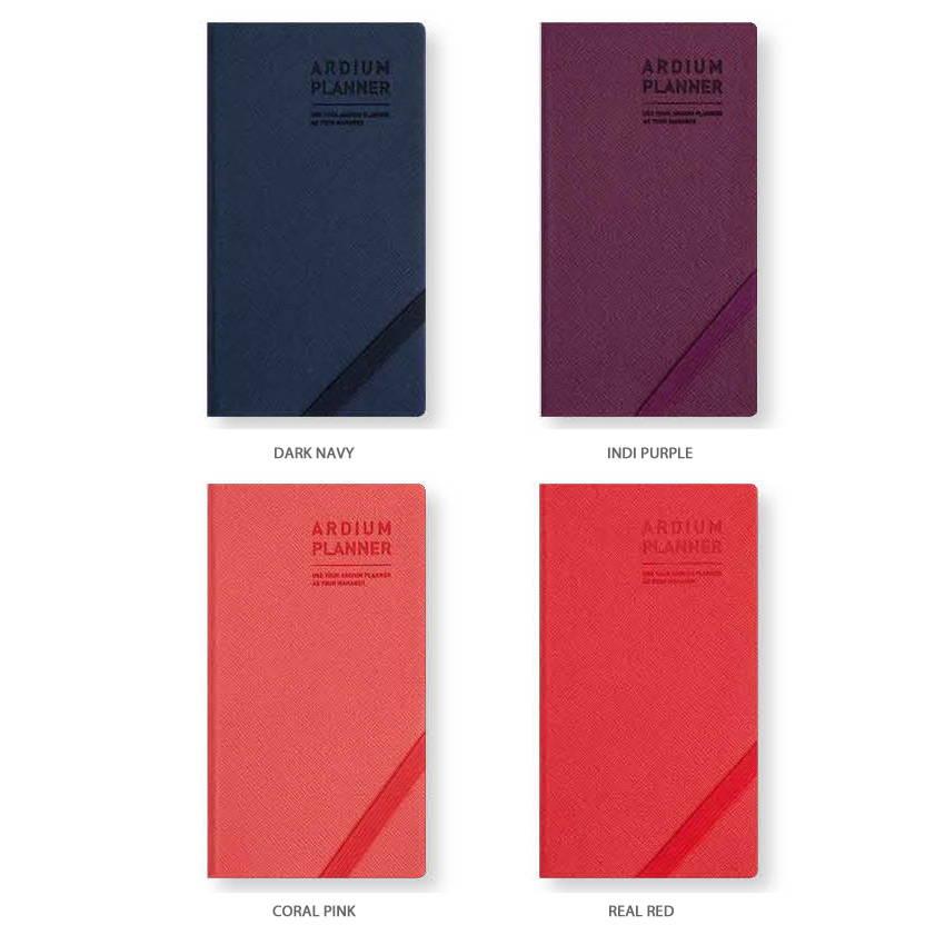 4 colors - Ardium 2020 Simple dated handy weekly planner scheduler