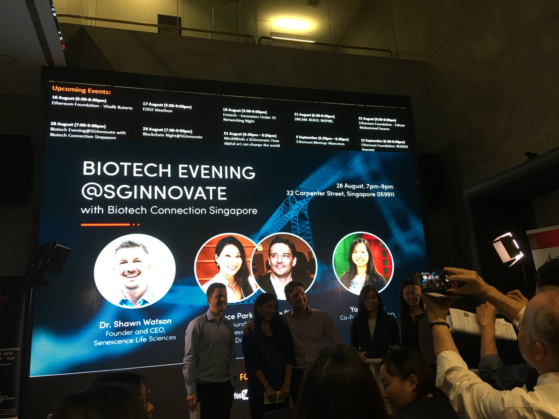 Dr. Watson at BioTech Evening @SGInnovate