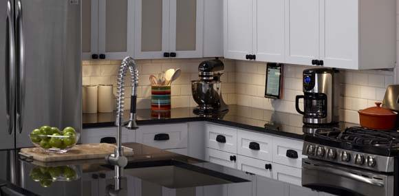 Legrand kitch and workroom under cabinet track lighting lifestyle example