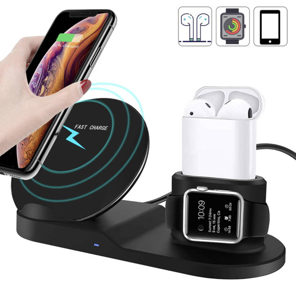 3 in 1 wireless iphone charger