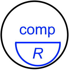 Computer bifocal lens icon