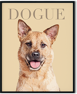 Dogue dog art with mutt