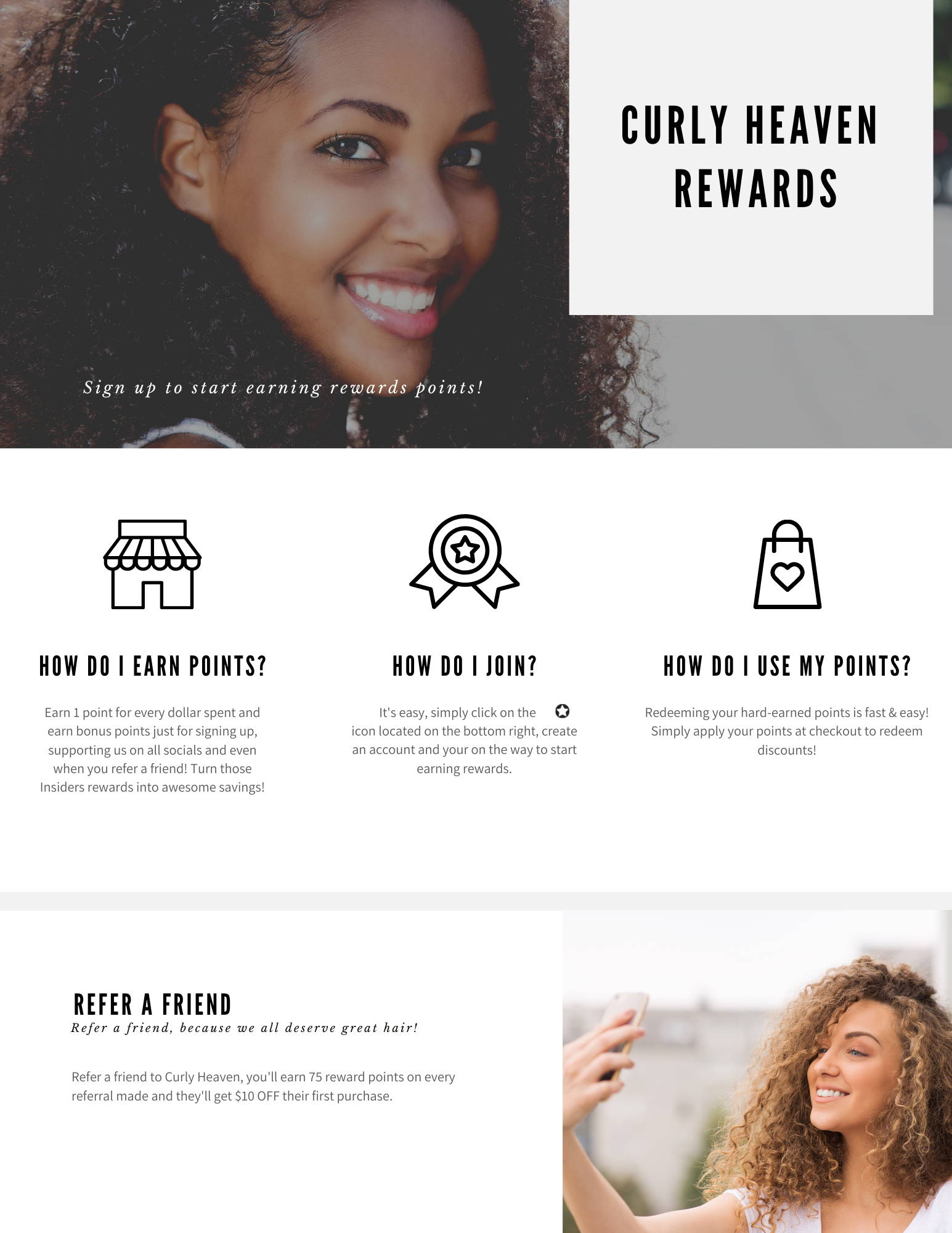 Curly Heaven Rewards Program