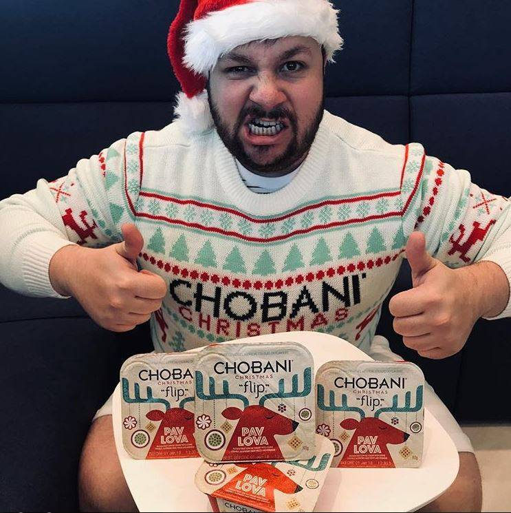 Chobani Custom Christmas Sweater