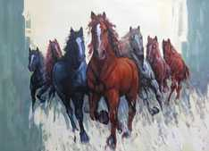 Running Horses Paintings Online