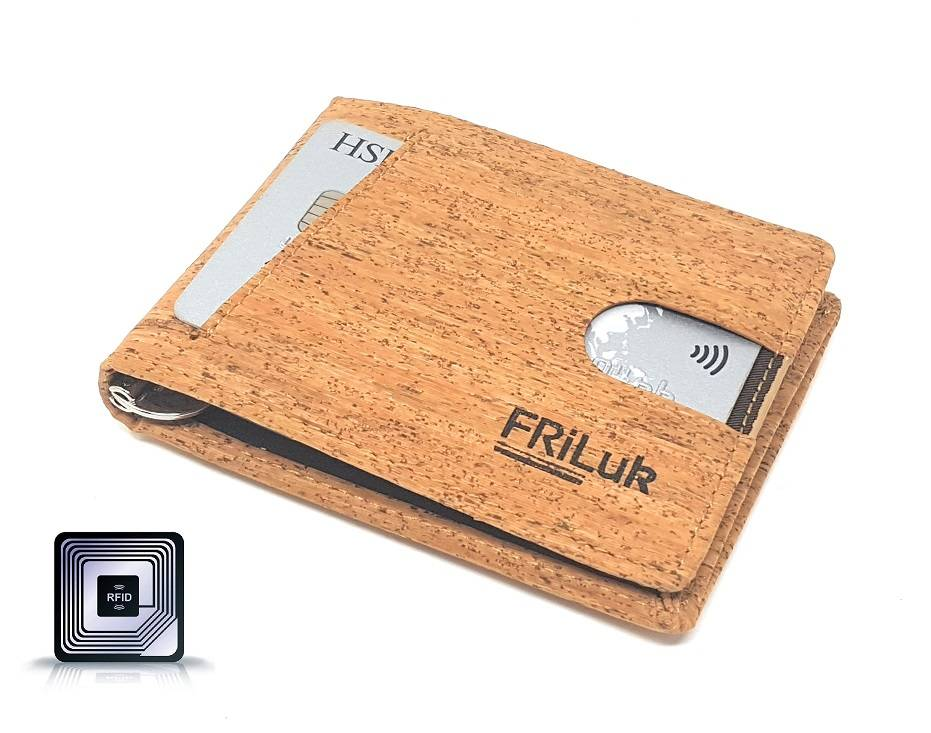 Ethical Wallet made of cork