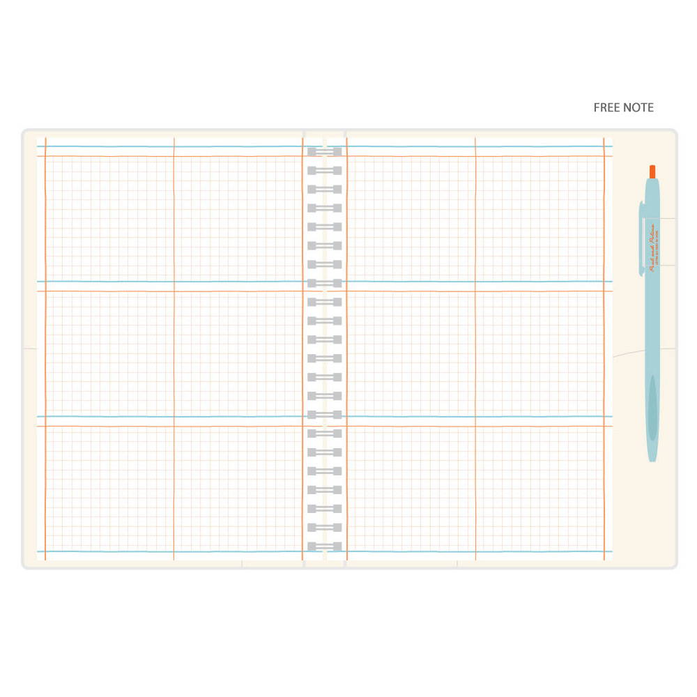 Free(grid) note - Romane 2020 Eat play work 365 dated daily diary planner