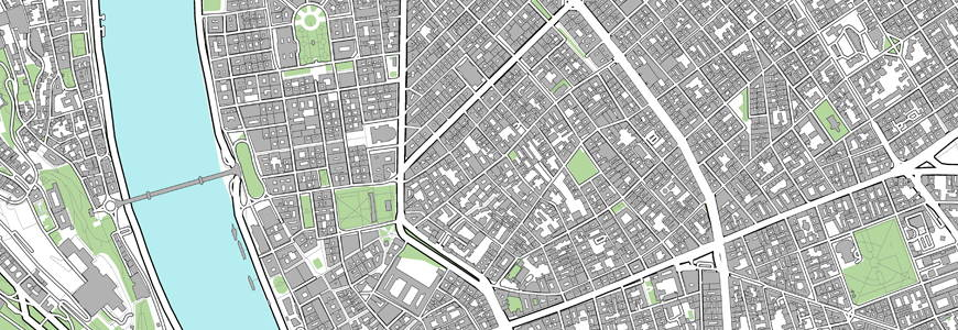 Budapest map print